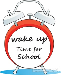 Wake Up Time for School clipart